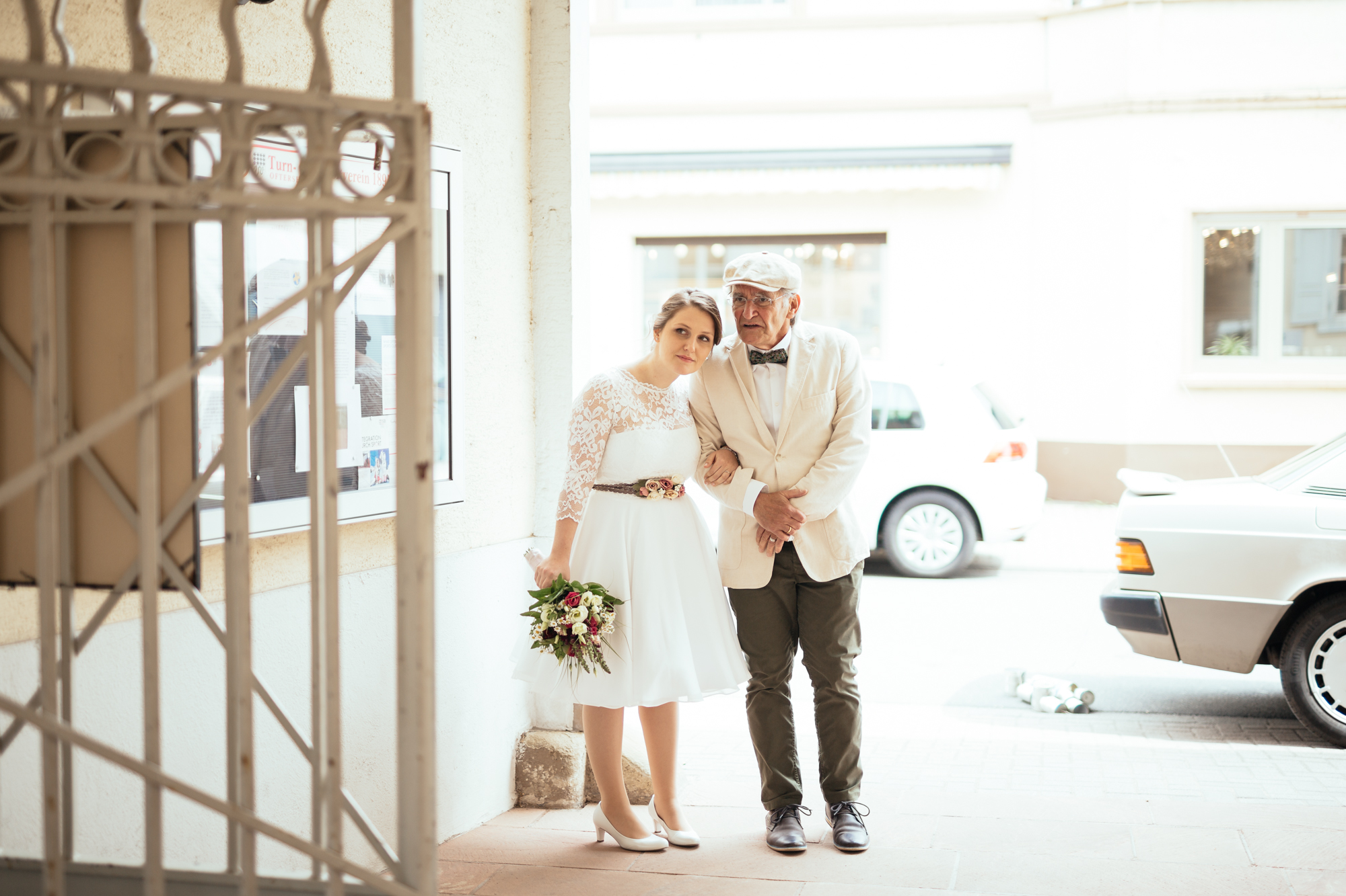 Brautvater und Braut